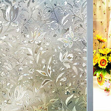 200x45cm 3D Window Films Privacy Static frosted Glass Decor Non-Adhesive Heat