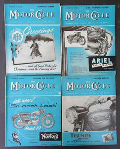 VINTAGE 1956 MOTOR CYCLE MOTORCYCLE MAGAZINES BOOK NORTON TRIUMPH ARIEL AJS BSA