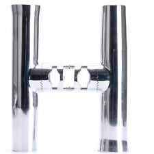 """SE 2PCS Tournament Style Clamp on Fishing Rod Holder for Rail 7/8"""" to 1""""-AM"""