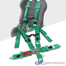 5 Point Green Racing Harness SFI 16.1 Nylon Strap Latch Link Safety Belt