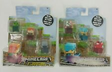NEW Lot of 2 Sets MINECRAFT 3-PACK REAL ROLLING ACTION MINI FIGURE BOX 6 TOTAL