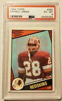 1984 Topps Football Card Washington Redskins DARRELL GREEN Rookie Card PSA EX-MT
