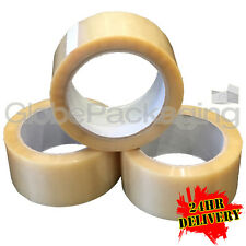 12 x Rolls Of KD HEAVY DUTY VINYL PVC Clear Packing Tape 48mm x 66M XX-STRONG