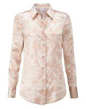 6942790566bed Pure Collection Silk Satin Blouse - Champagne Paisley - Size  UK 18 - RRP £