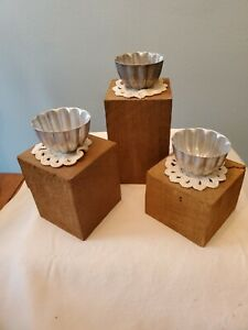 Set of Three Re-Purposed Votive Candle Holders