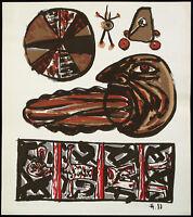 DDR-Kunst. Untitled, 1988. Lithographie Frieder HEINZE (*1950 D), handsigniert