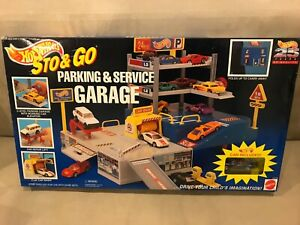 Hot Wheels Sto & Go Parking & Service Garage open box, sealed contents, 1995