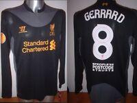 Liverpool 8 GERRARD L/S Warrior BNWT M L XL XXL Football Soccer Shirt Jersey New
