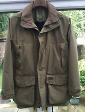 Musto Gortex Shooting Coat, hood plus zip in quilted gillet. Mens Large 44 chest