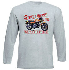DUCATI 860 GTS - GREY LONG SLEEVED TSHIRT- ALL SIZES IN STOCK