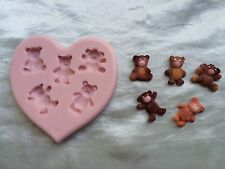 Teddy Bear Assortment Mold for Cake Decorating, Fondant, Gum Paste