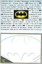 Batman  Three Piece D.C. Comics,  Batman Magnetic Word Collector's sets   1998