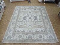 12 x 14'9 Hand Knotted Ivory Oushak Oriental Rug Ushak G8780