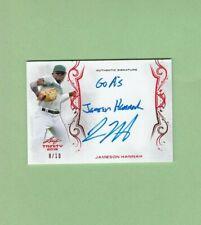 Jameson Hannah Autograph 2018 Leaf Trinity Signatures Red /10 Baseball Card AUTO