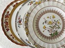 """Set 4 Vintage Mismatched China Dessert Cake Plates 7 1/2"""" - 8"""" Florals"""