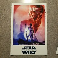 """Star Wars Ep 9 The Rise of Skywalker IMAX 13"""" x 19"""" POSTER Opening Night Promo"""