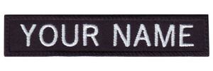 """Military Rectangular 3"""" to 6"""" x 1"""" Personalized Embroidered Name Text Tag Patch"""