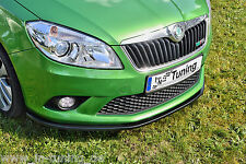Sonderaktion Spoilerschwert Frontspoiler Cuplippe aus ABS Skoda Fabia 2 RS ABE