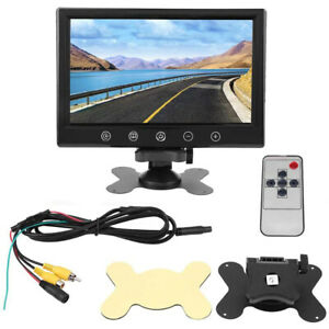 "12V 9""TFT HD LCD Auto Rückfahrkamera Mit Fernbedienung Einparkhilfe System NEU"