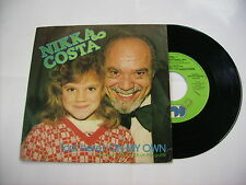 "NIKKA COSTA - ON MY OWN - 7"" VINYL ITALY 1981 EXCELLENT"