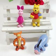 1 Set of 4 Disney Winnie Tigger Piglet Eeyore Figurine Figure Cake Ornament Toy