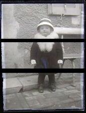 2 PLAQUE VERRE PHOTO NEGATIF circa1914 LE PETIT GARCON little baby boy (B42)