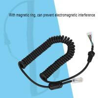 For YAESU 6 Pin 3.5mm+2.5mm Hand Microphone Cable With Magnetic Ring Accessories