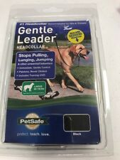 PetSafe Gentle Leader Head Collar with Training DVD Large for Dogs Black NEW