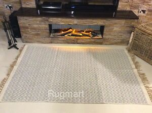 Grey Chevron Handmade Cotton Jute Mix Reversible Washable ZigZag Kilim Area Rugs