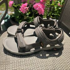 Teva sandals, new Hudson suede/mesh gray  13