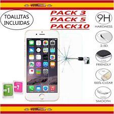 Protector Pantalla iPhone 6 6S 7 8 X PLUS XR XS MAX para Apple PACK 3 5 10 9H