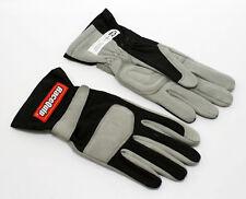 RaceQuip 351003 Medium 1-Layer Black Auto Racing Driving Gloves Nomex SFI Rated