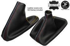 GIALLO CUCITURE CARBON VINILE CUFFIA LEVA E FRENO PER BMW E36 E46 91-05 M///