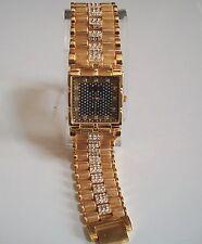 Men's Geneva Gold Finish Nugget style bracelet fashion dressy/casual watch