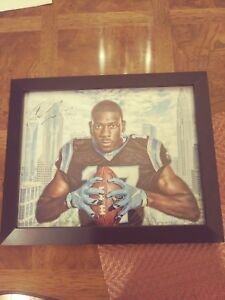Devin Funchess Carolina Panthers Signed 11x14 Framed Photo Michigan Wolverines