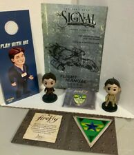 New listing Firefly Serenity Mal Lot, 2 Qbits, New Pin, Door Hanger, Signal mag, Loot Crate