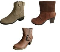 New Womens Ladies Faux Suede Leather Zip  Ankle Fashion Winter Boots Size 3-8 UK