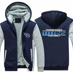 Tennessee Titans Hoodie Fleece Zip Up Coat Winter Warm Jacket Thicken Sweatshirt