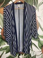 Soma S Small Pajama Kimono 3/4 Sleeve Open Front Sleepwear Loungewear Robe Top