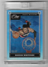 HASSAN WHITESIDE 2019-20 PANINI ONE AND ONE SILVER HOLO PRIZM SP /99 BLAZERS MH