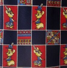 "Blue, Red Mouse Patch Silk Tie 3.9"" Wide 58"" Long"