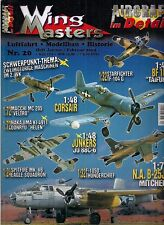 Wing masters nº 20 enero/febrero aviación 2004 * modellbau * historial