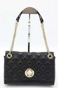 NWT Kate Spade New York Black Astor Court Cynthia Quilted Leather Shoulder Bag