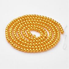 1 Strand 4mm Gold Pearl Glass Pearls 216 Beads