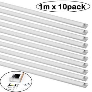 10m LED Profil Aluminium Leiste für Streifen Beleuchtung Kanal Aluprofil Profile