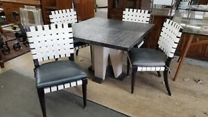 MCM Vicente Wolf for Niedermaier Sculptural Dining Table and Chairs 5 Piece Set