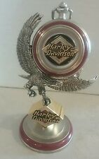 Franklin mint harley davidson collector pocket watch with stand