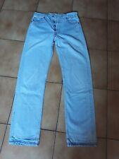 jean LEVI'S 501 bleu clair vintage USA W29 L32 taille haute femme 36/38 collect