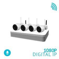 4 Channel 500ft Range Wireless NVR1TB+ HDD + 4 x 1080P Bullet IP67 WiFi cameras
