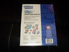 Office Depot White Matte Inkjet Cd Labels Jewel Case Inserts 100 Labeslinserts